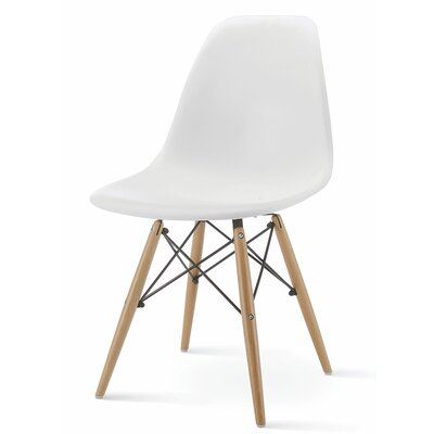 Christenson Scoop Shell Dining Chair Color: White