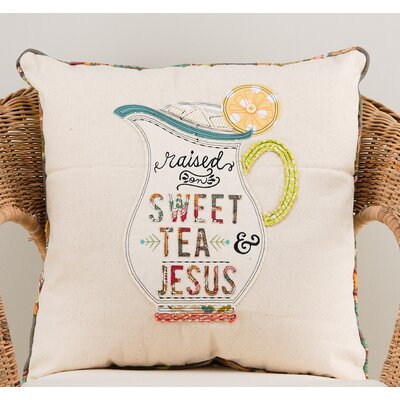 Gunnels Raised on Sweet Tea and Jesus Cotton Throw Pillow