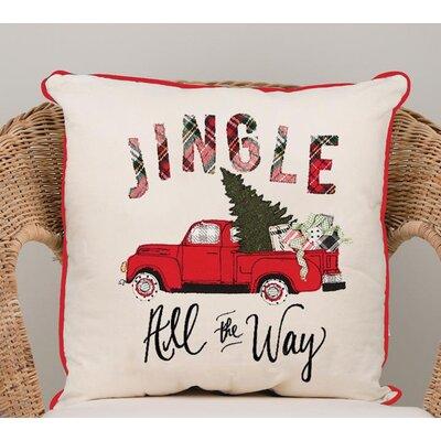 Gunn Jingle All the Way Cotton Throw Pillow