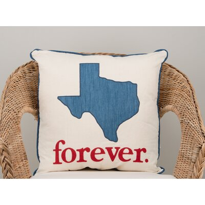 Steeves Texas Forever Cotton Throw Pillow
