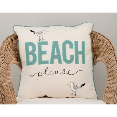 Hungate Beach Please Cotton Throw Pillow