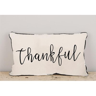 Gullett Thankful Cotton Throw Pillow