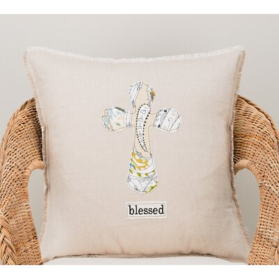 Saldivar Blessed Cross Cotton Pillow Cover