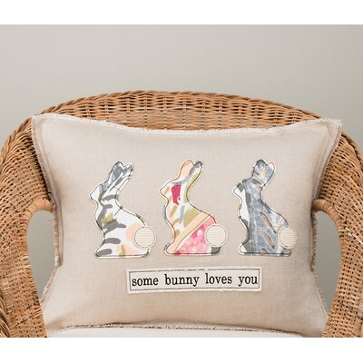 Gullo Some Bunny Loves You Cotton Pillow Cover