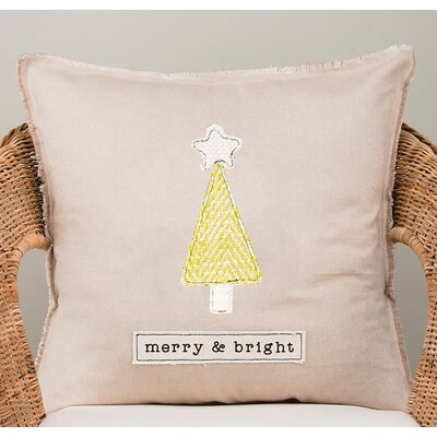 Ellicott Merry and Bright Cotton Pillow Cover
