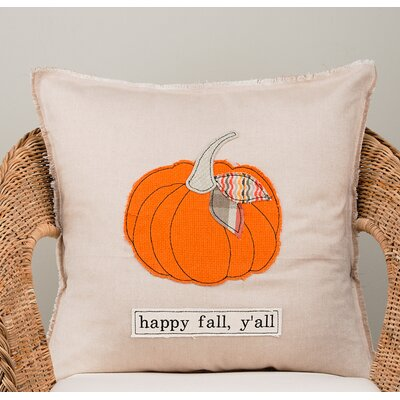 Gulley Happy Fall Yall Cotton Pillow Cover