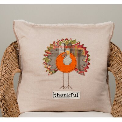 Gullett Thankful Cotton Pillow Cover