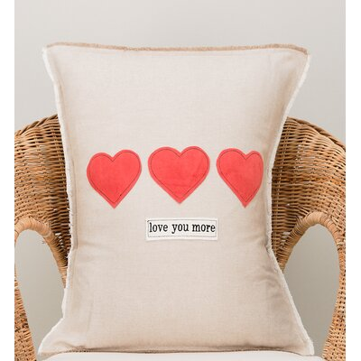 Gulbranson Love You More Cotton Pillow Cover