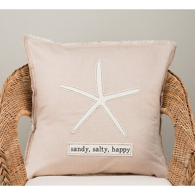 Huneycutt Sandy,Salty,Happy Cotton Pillow Cover