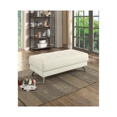 Chidester Chrome Legs Ottoman Upholstery: White