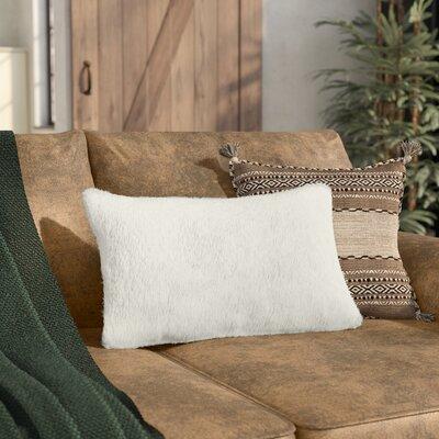 Sheba Rectangular Faux Fur Lumbar Pillow Color: Cream