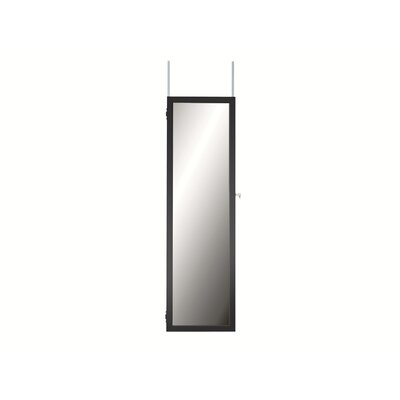 Maybank Over the DoorJewelry Armoire with Mirror Color: Black