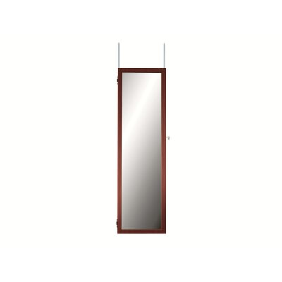 Maybank Over the DoorJewelry Armoire with Mirror Color: Cherry