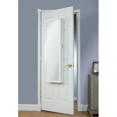Nye Over the Door Jewelry Armoire with Mirror Color: White