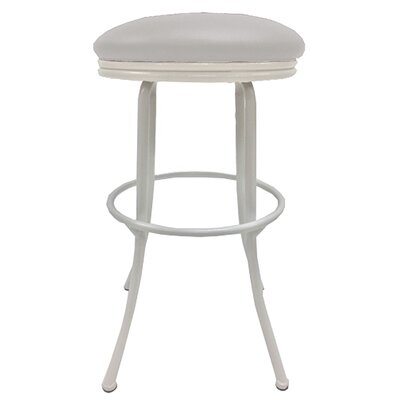 Podington 35 Swivel Bar Stool Frame Color: White, Seat Color: Ocean Beige