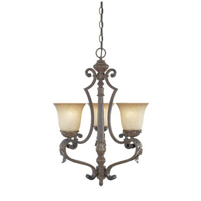 Caudle 3-Light Candle-Style Chandelier