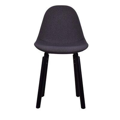 Castillo Upholstered Dining Chair Upholstery Color: Dark Gray