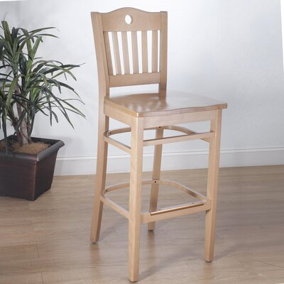 Herzig 30 Bar Stool Color: Natural