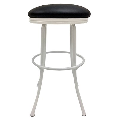 Podington 35 Swivel Bar Stool Frame Color: White, Seat Color: Ebony