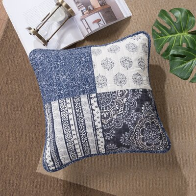 Galey Patchwork Denim Elegance Cotton Pillow Cover