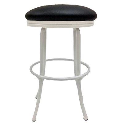 Podington 26 Swivel Bar Stool Frame Color: White, Seat Color: Ebony