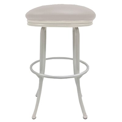 Podington 26 Swivel Bar Stool Frame Color: White, Seat Color: Ocean Beige