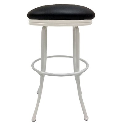 Podington 33 Swivel Bar Stool Frame Color: White, Seat Color: Ebony