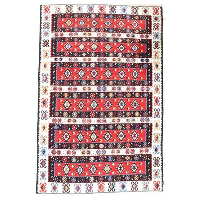 Turkish Hand-Woven Wool Red Area Rug