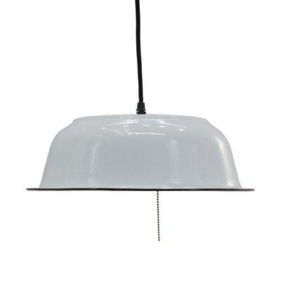 Gunnersbury Enamel 1-Light Inverted Pendant