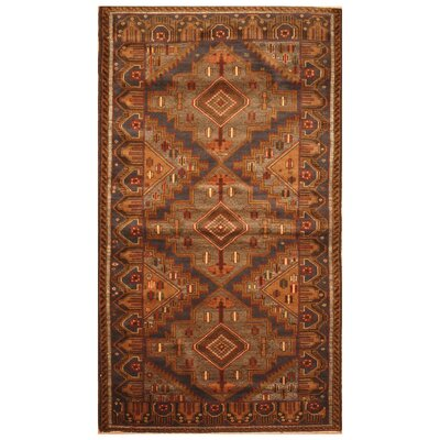One-of-a-Kind Barlowe Hand-Woven Wool Navy/Brown Area Rug
