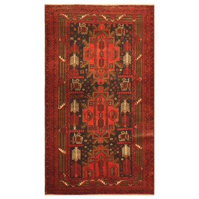 One-of-a-Kind Barlowe Hand-Woven Wool Red/Brown Area Rug