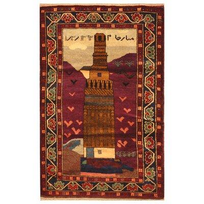 One-of-a-Kind Barlowe Hand-Woven Wool Purple Area Rug