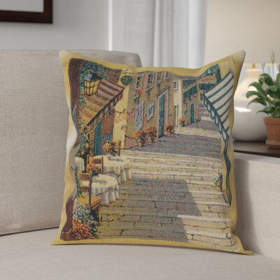 Campana Village Two Tables Cotton Pillow Cover