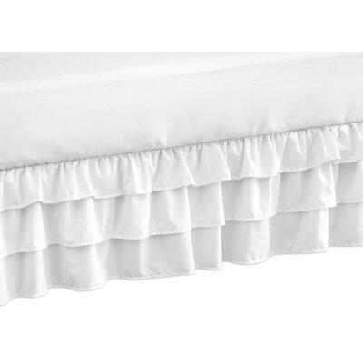 Harper Crib Bed Skirt Color: White