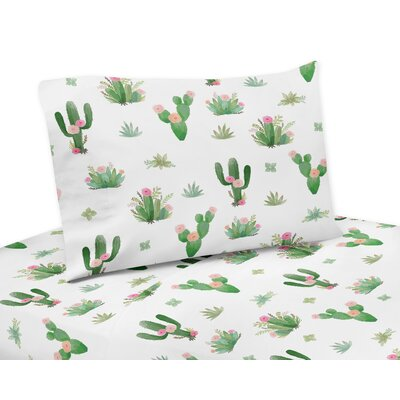 Cactus Floral Sheet Set