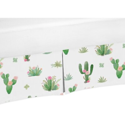 Cactus Floral Toddler Bed Skirt