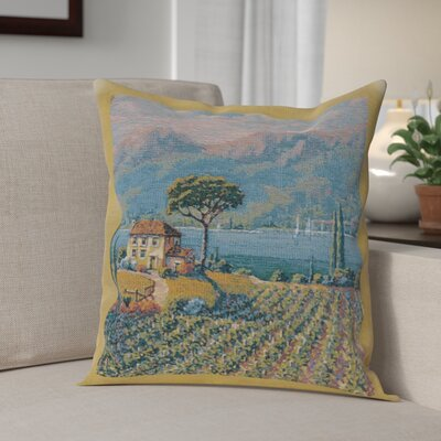Campanella Vineyard Left Cotton Pillow Cover