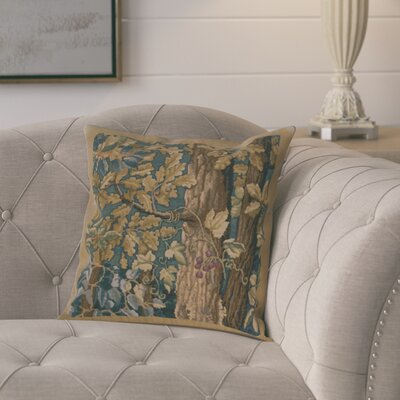 Girouard Leaves Cotton Pillow Cover