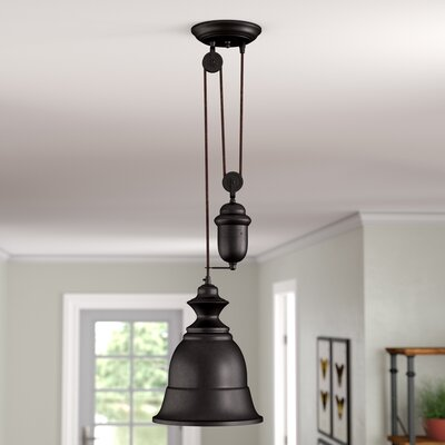 Elsenborn 1-Light Mini Pendant Type: LED, Color: Oiled Bronze