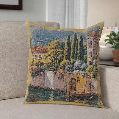 Campas Reflections Village Right Cotton Pillow Cover