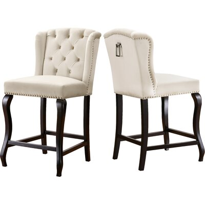 Lawrence Hill 27.5 Bar Stool Upholstery Color: Cream
