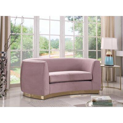 Antonsen Loveseat Upholstery: Pink
