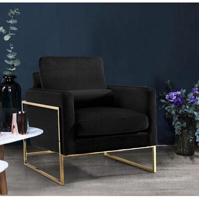 Ganley Club Chair Upholstery: Black