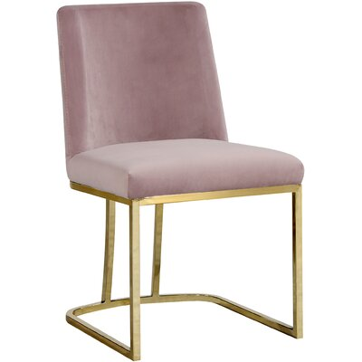 Seppich Upholstered Dining Chair Upholstery Color: Pink