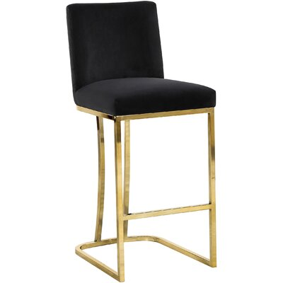 Seppich 26 Bar Stool Upholstery Color: Black