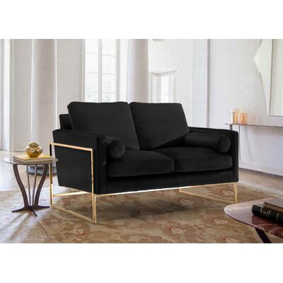 Ganley Loveseat Upholstery: Black