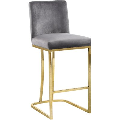 Seppich 26 Bar Stool Upholstery Color: Gray