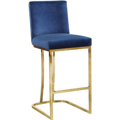 Seppich 26 Bar Stool Upholstery Color: Navy