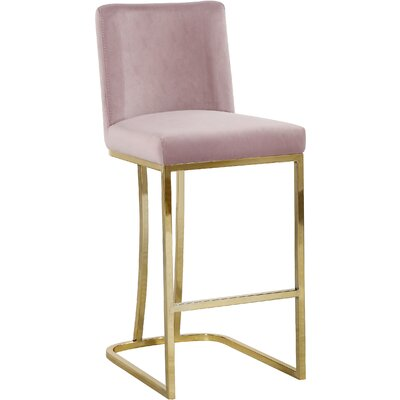 Seppich 26 Bar Stool Upholstery Color: Pink