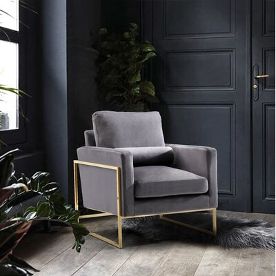 Ganley Club Chair Upholstery: Gray